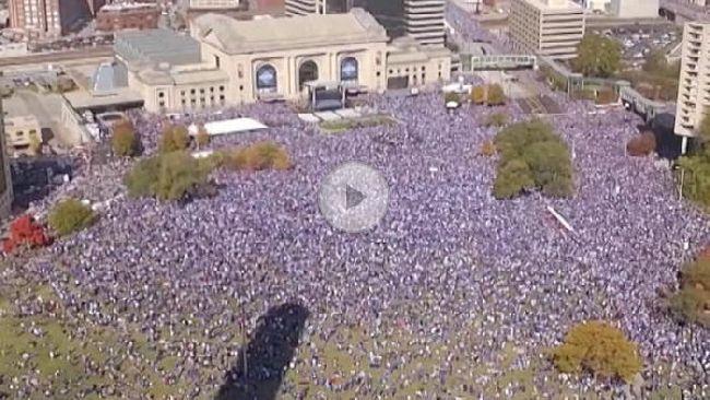 In Kansas City kannte die Begeisterung über den World-Series-Titel keine Grenzen.