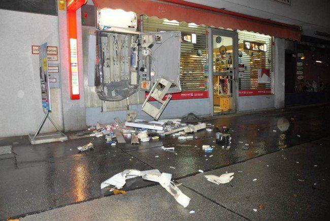Einer der gesprengten Zigarettenautomaten in Wien.