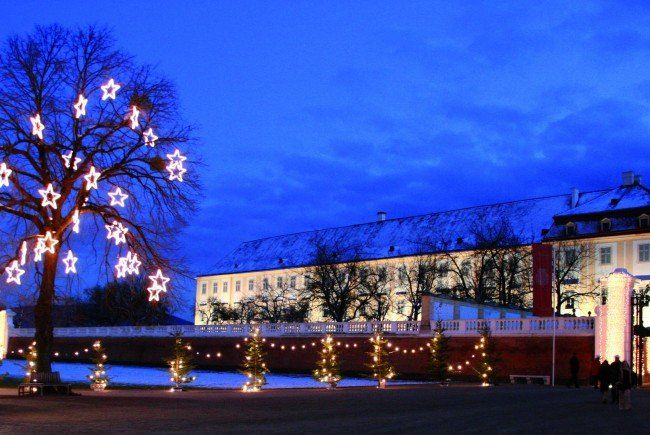 An den Wochenenden am Schloss Hof die Vorweihnachtszeit genießen.