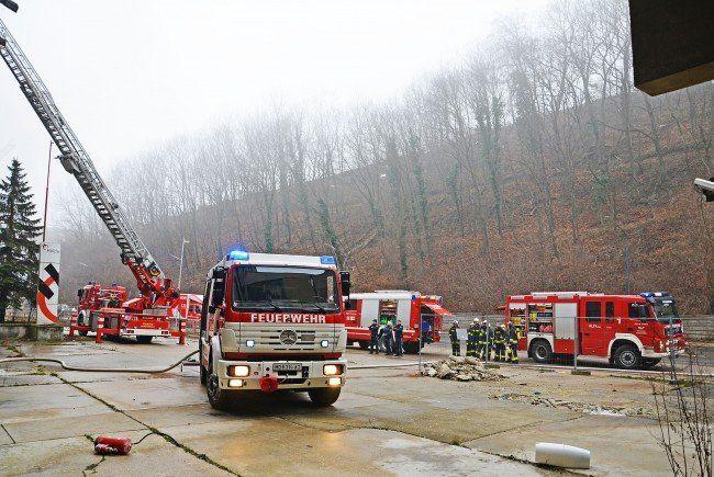 Die Feuerwehr in Kaltenleutgeben.