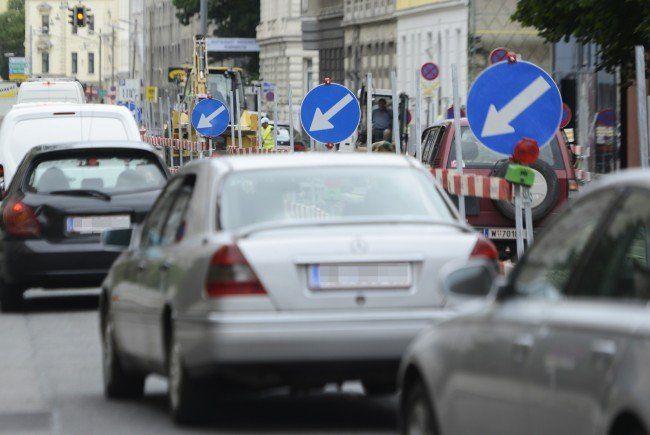 Am Donnerstag wird auf der Erzherzog-Karl-Straße gebaut.