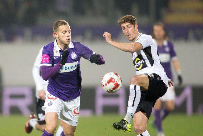 Die Austria schließt das Fußballjahr 2015 gegen Altach ab.