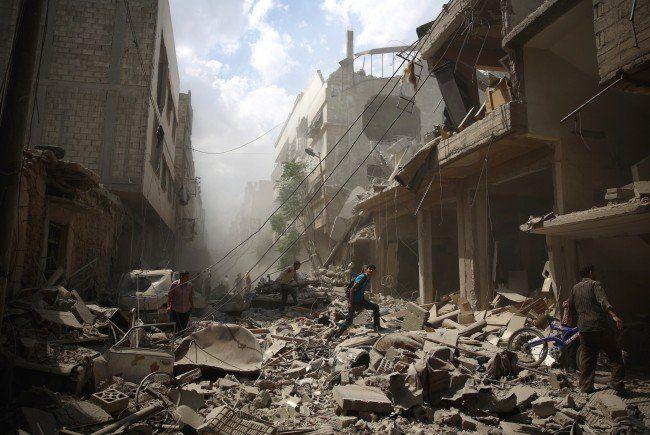 Bild der Zerstörung aus Damaskus