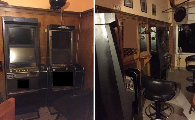 Diese Automaten wurden in dem Lokal in Meidling entdeckt