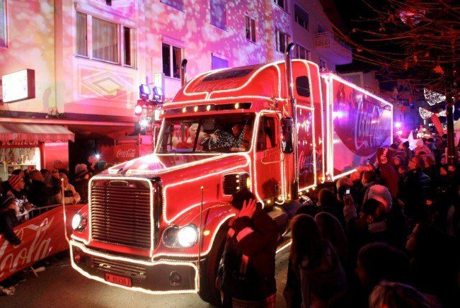 coca cola weihnachtstruck in wien das komplette programm. Black Bedroom Furniture Sets. Home Design Ideas