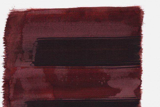 """""""Schrei 19:39 Uhr"""", 2015, Tusche auf Papier, 48 x 36cm"""