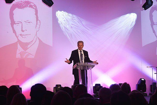 ÖVP-Obmann und Vizekanzler Reinhold Mitterlehner bei der Feier zu seinen Ehren