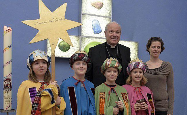 Kardinal Christoph Schönborn empfängt am Dienstag die Sternsinger