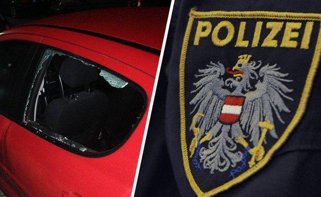 Ein betrunkener Randalierer beschädigte mehrere Pkw in Wien-Floridsdorf.