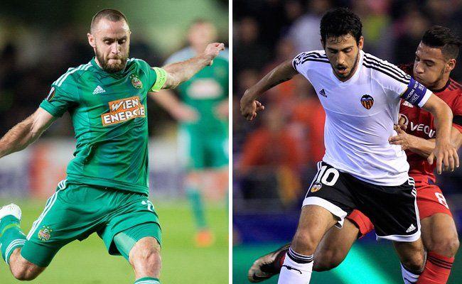 Steffen Hofmann und Rapid treffen auf den FC Valencia.