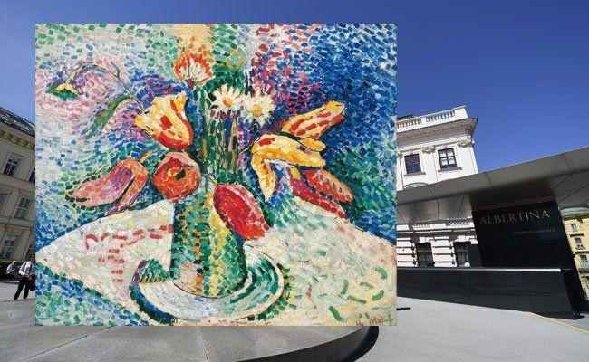 Unter anderem 2016 in der Albertina: Eine große Schau zum Thema Pointillismus (Henri Matisse Papageientulpen, 1905)