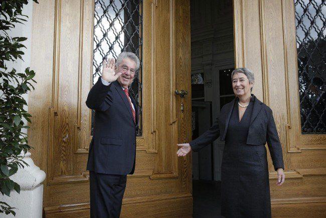 Bundespräsident Heinz Fischer verabschiedet sich 2016 aus seinem Amt.