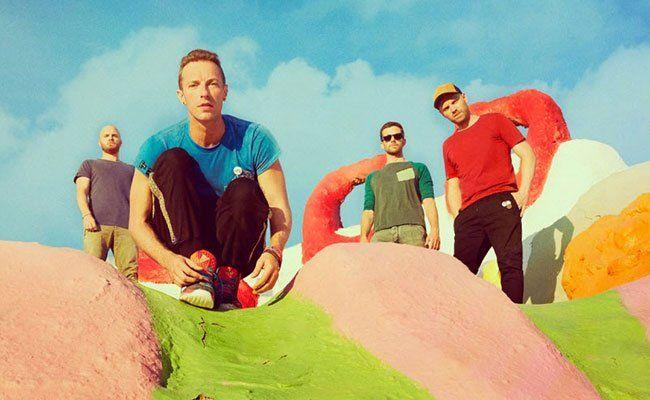 Knallbunt präsentieren sich Coldplay auf ihrem neuen Album.