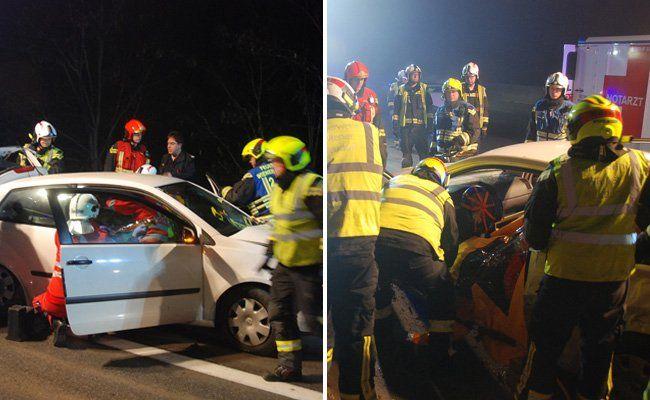 Die Freiwillige Feuerwehr Wr. Neudorf im Einsatz.