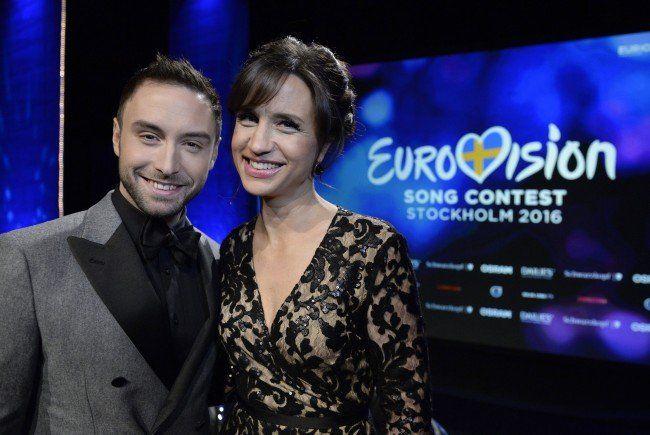 Das Moderatorenpaar zum Song Contest 2016.