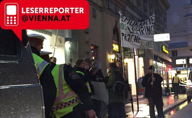Die Demo im 18. Bezirk.