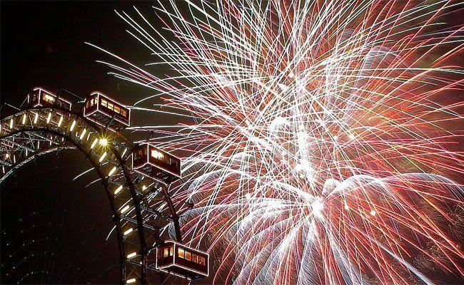 Die Österreicher lassen einiges für ihr Feuerwerk springen.