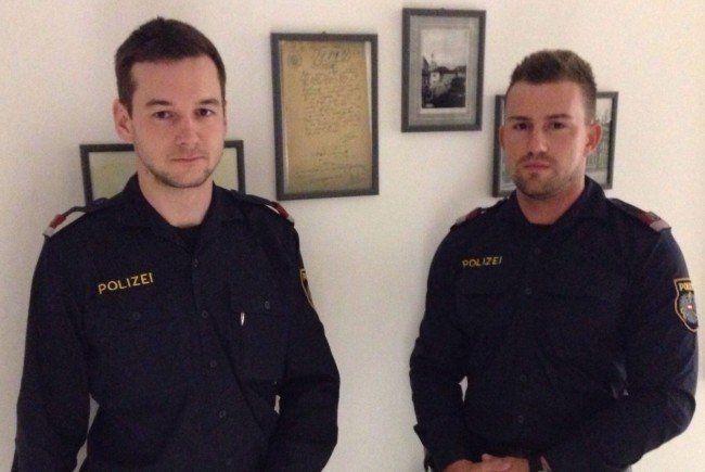 Revierinspektor Andreas P. und Inspektor Sebastian F. retteten die 69-Jährige.