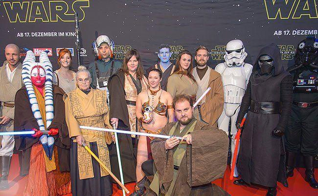 Auch in Wien feierte Star Wars große Premiere.