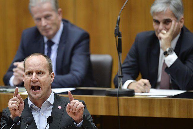 Matthias Strolz im Rahmen einer Nationalratssitzung im Parlament in Wien