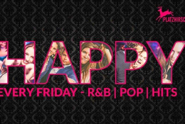 Jeden Freitag geht's rund zu R'n'B und Pop-Musik im Platzhirsch
