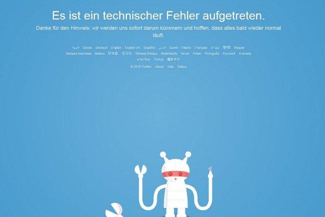Störung bei Twitter