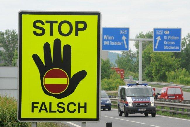 Geisterfahrerstatik 2015 - Mehr Meldungen als 2014, aber keine Toten