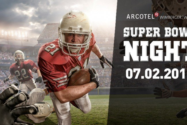 Große Super Bowl-Night im Arcotel Wimberger am 7. Februar 2016.