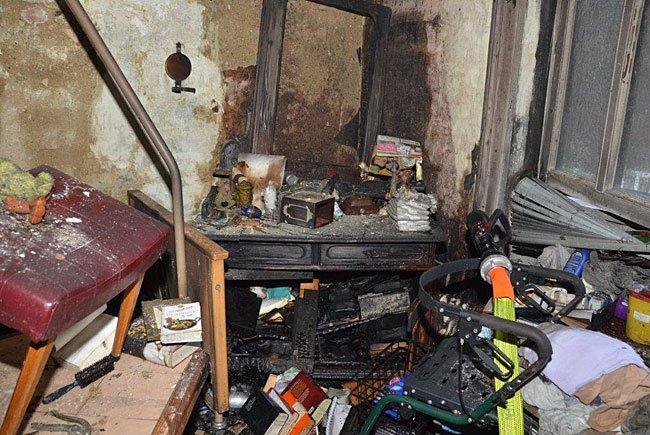 Die Brandwohnung in Wien-Hernals