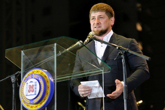 Etwa 100 Tschetschenen demonstrierten in Wien gegen Ramsan Kadyrow