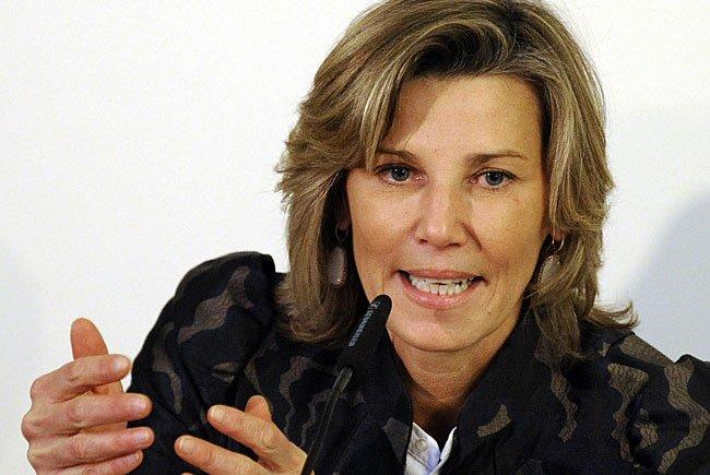 Opernball-Organisatorin Desiree Treichl-Stürgkh im Rahmen der Pressekonferenz zum Event