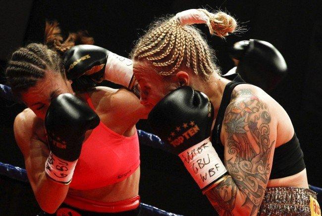 Nina Voraberger (rechts) im Kampf gegen Nina Sojanovic.