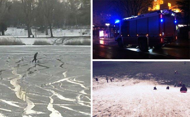 Feuer, Eis und Schnee gab es im Jänner 2016 in Wien - und unsere Leserreporter waren vor Ort