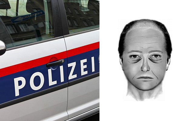 Mit diesem Phantombild wird nach dem Trafikräuber von Penzing gefahndet