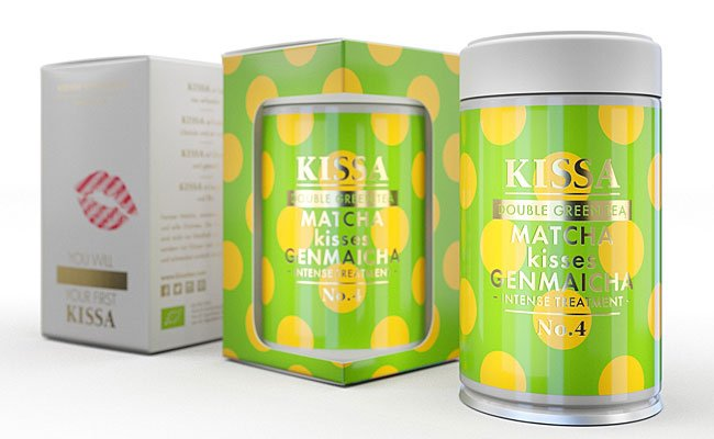 KISSA Double Green Tea Matcha Kisses Genmaicha ist die Damenspende beim Opernball 2016