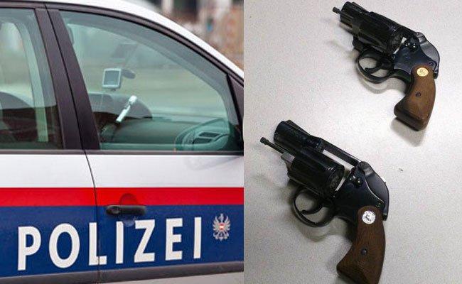 Der Verfolger zielte mit der Pistole in Richtung der Frau.