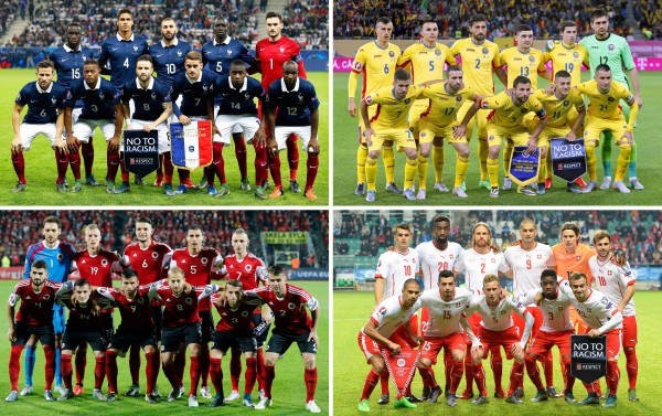 Die Gruppe A der Fußball-EM 2016 in Frankreich.