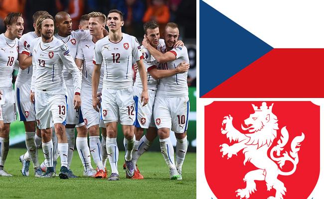 Kader und Teamportrait der tschechischen Nationalmannschaft.