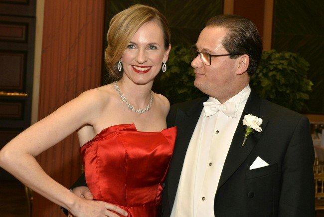 Maria und Gerald Großbauer am 75. Ball der Wiener Philharmoniker.