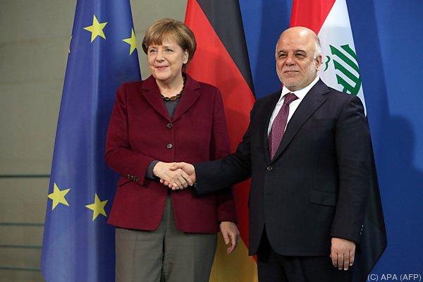 Irakischer Ministerpräsident Haider al-Abadi in Berlin