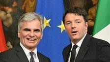 Faymann: Unterstützung von Italiens Premier Renzi