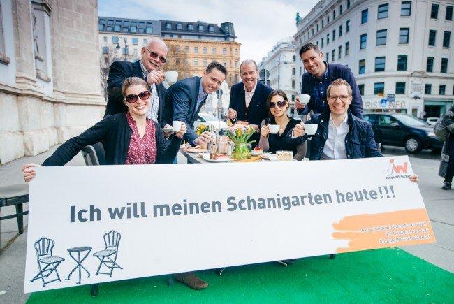 Die Junge Wirtschaft Wien will eine Adaptierung der Schanigarten-Regelung.