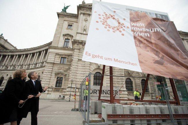 Das Weltmuseum am Heldenplatz in Wien.