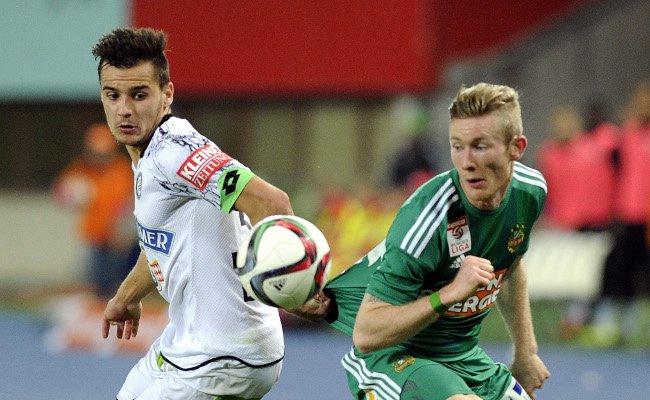 Florian Kainz gastiert mit Rapid bei seinem Ex-Klub Sturm Graz.
