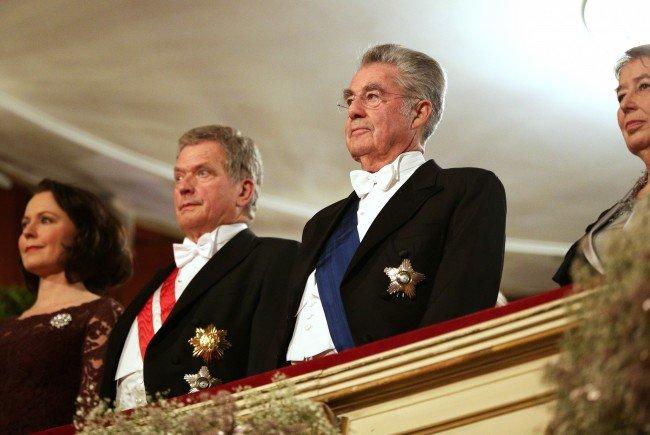 Letzter Opernball als Bundespräsident für Heinz Fischer.