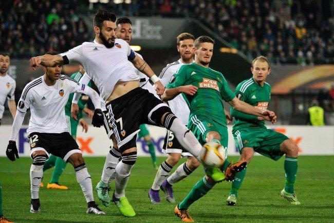 Rapid war gegen Valencia Chance.