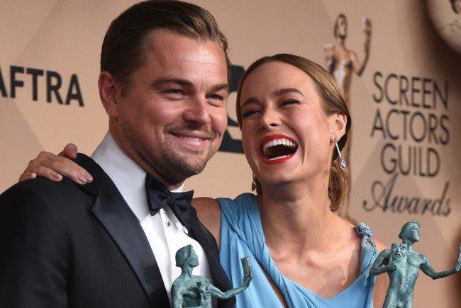 Leonardoe DiCaprio und Brie Larson gewannen bei den SAG-Awards.
