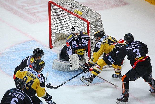 Die Vienna Capitals beim Spiel gegen den Dornbirner EC