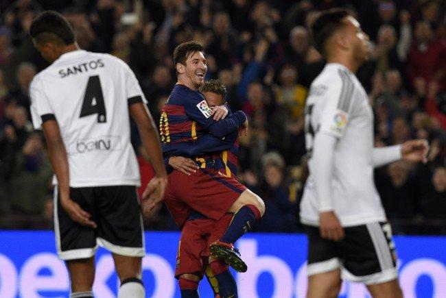 Lionel Messi und Co. hatten mit Valencia ihren Spaß.
