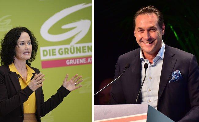 Eva Glawischnig unterstützt Van der Bellen - während Strache ihm kaum Chancen einräumt